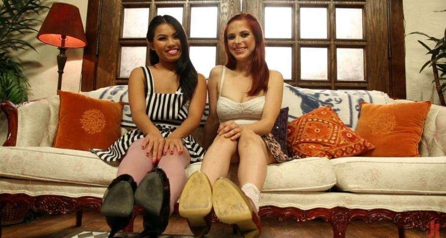[Foot Fetish / USA] - Cindy Starfall, Penny Pax, Cliff Adams - Shoe Store Foot Worship and Footjob (2013 / Kink / HD 720p)