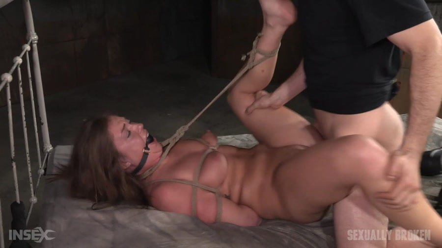 [BDSM / Domination / Bondage] - Maddy O'Reilly - Redheaded Maddy O'Reilly is ball gagged, tightly tied and ragdoll fucked by two big dicks! (2016 / SexuallyBroken / HD 720p)