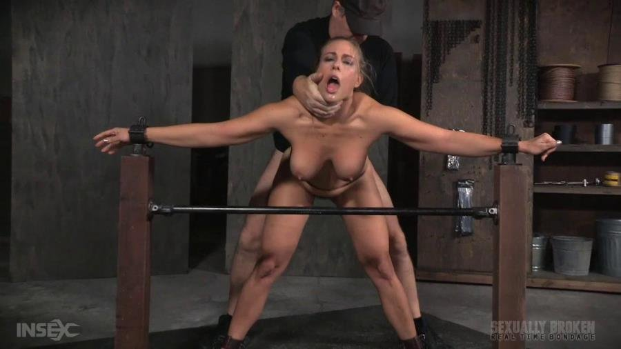 [BDSM / Rough Sex] - Angel Allwood - Angel Allwood BaRS show continues with a spit roasting on hard cock, brutal BBC deepthroat! (2016 / SexuallyBroken / HD 720p)