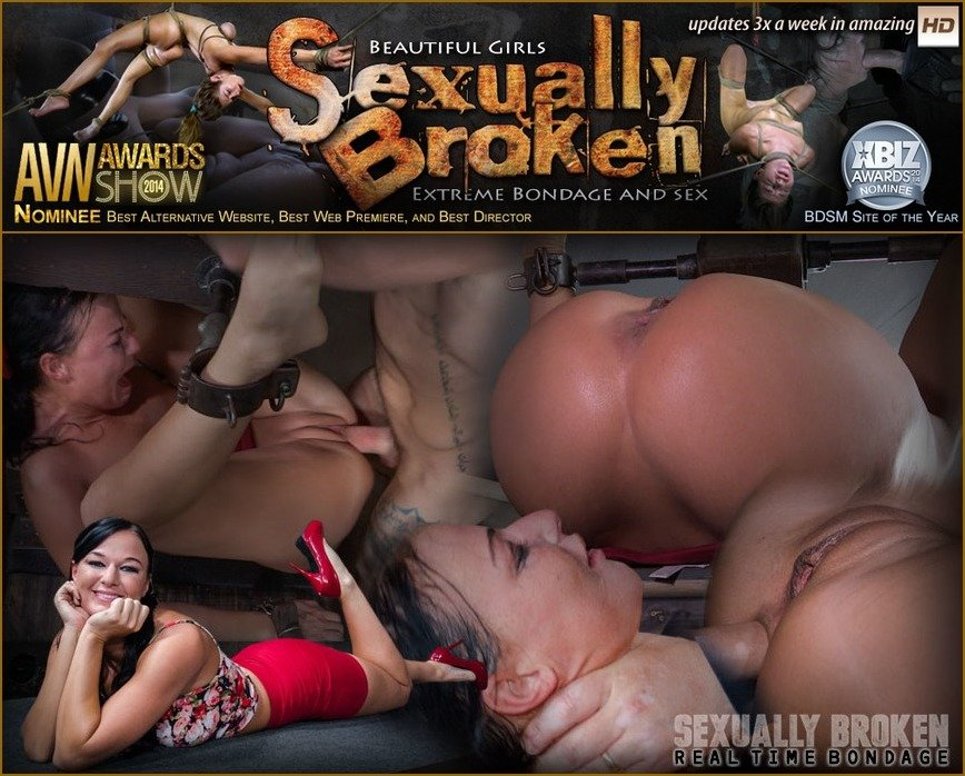 [BDSM / Domination] - London River - London River Can't Stop Cumming When Bound with Rough Anal Sex! (2016 / SexuallyBroken / SD 540p)