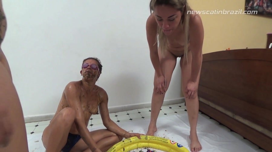 [Scat / DepFile] - Cindy Blueberry, Diana, Marrie - A Pool of Shit (2017 / New Scat In Brazil / FullHD 1080p)