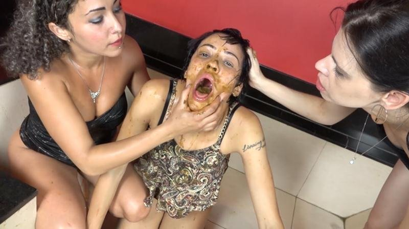 The Scat Soup Real Swallow - Extreme Double Scat Domination Dinner (FullHD 1080p/2.10 GB)