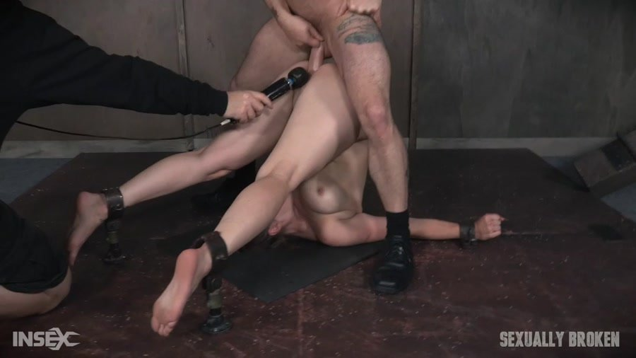 [BDSM / Rough Sex] - Bella Rossi - Bella Rossi is brutally fucked while bound in a extreme pile driver, huge cock massive orgasms! (2017 / Sexually Broken / HD 720p)