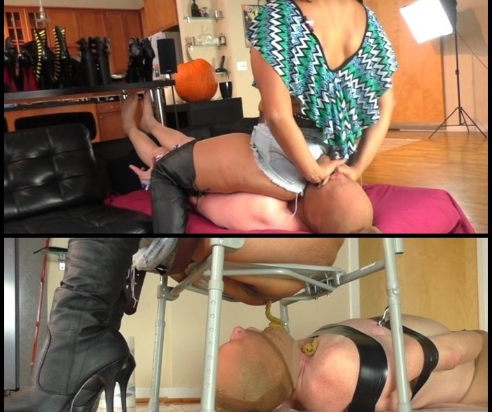 PrincessPuckie - Scat Queen Delilah Smothered & Wrapped up in Shit (HQ 480p/947 MB)