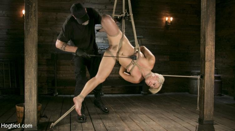 Helena Locke - Helena Locke - Blonde Buff MILF Helena Locke Made to Cum in Tight Rope Bondage!! (HD/1.89 GB)
