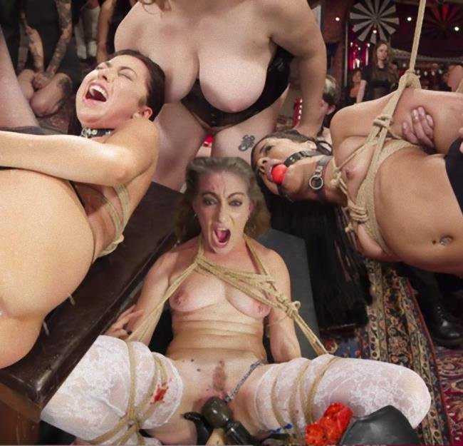 Aiden Starr, Kira Noir, Melissa Moore - Nympho Slave Slut Soaks The Folsom Orgy with Squirt (HD/2.77 GB)
