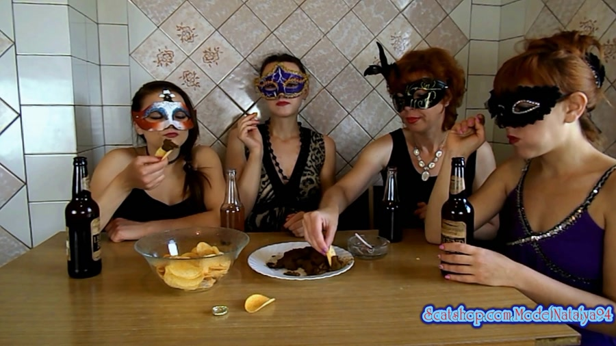 ModelNatalya94 - The morning Breakfast the four girls (FullHD 1080p/1.19 GB)