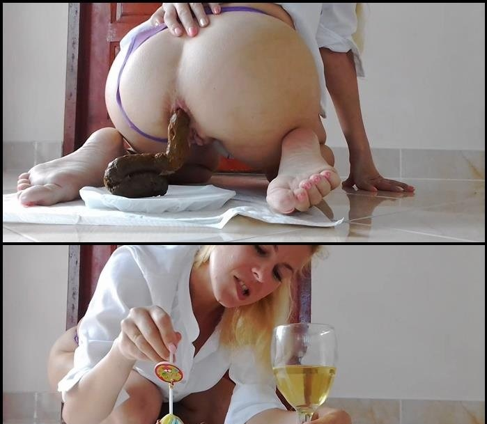 MissAnja - Plate Of Huge Shit, Glass of Drink, Dessert (HD 720p/726 MB)