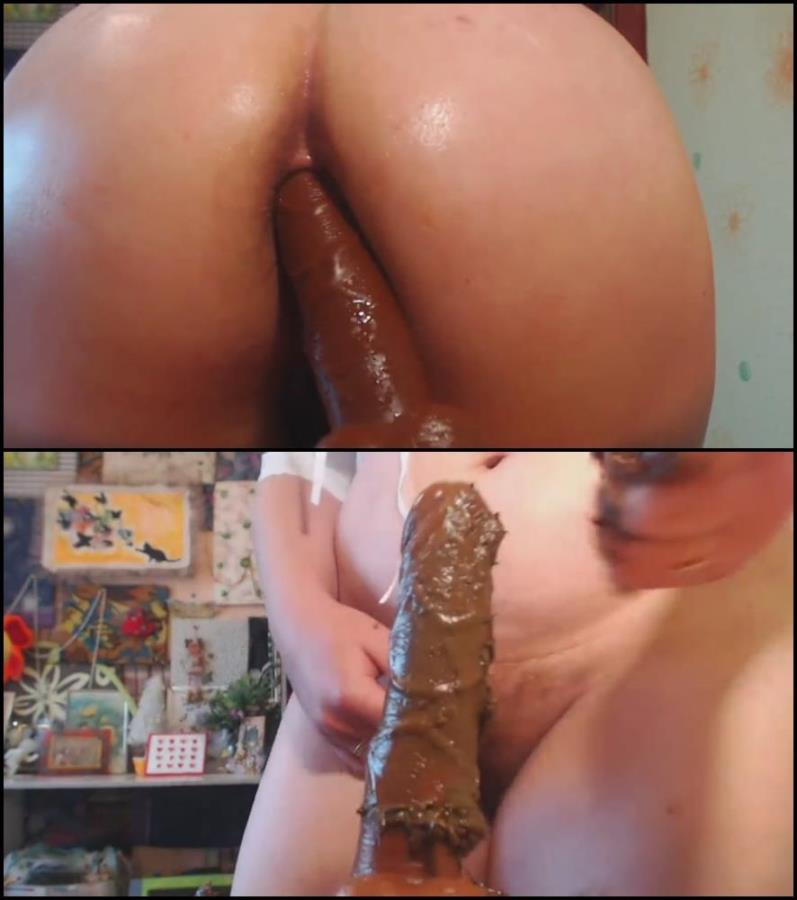 Shit anal with Lesbian Scat